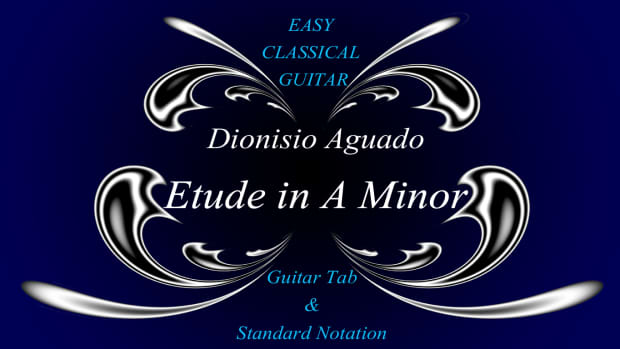 easy-classical-guitar-aguado-etude-in-a-minor-guitar-tab-standard-notation-and-audio