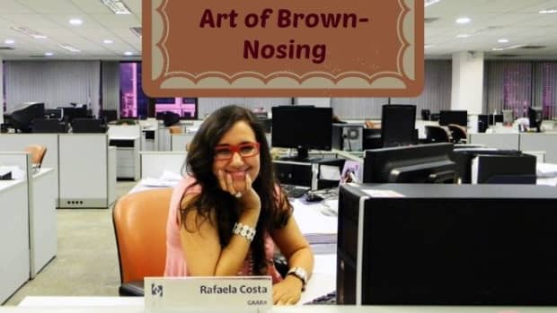 how-to-get-noticed-at-work-artful-brown-nosers-who-seek-advice-and-toot-their-own-horns