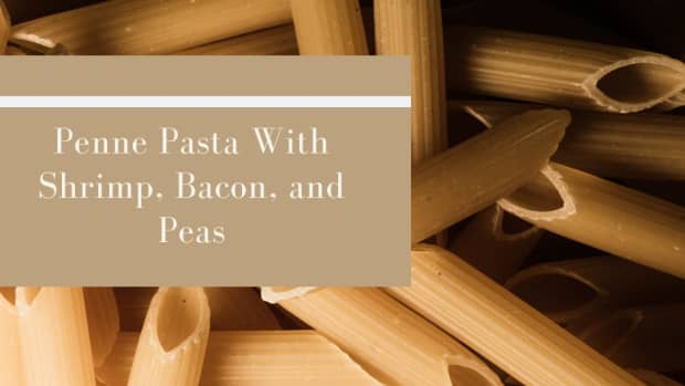penne-pasta-with-shrimp-bacon-and-peas