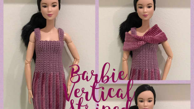 barbie-vertical-striped-dress-with-mobius-shawl-free-crochet-pattern