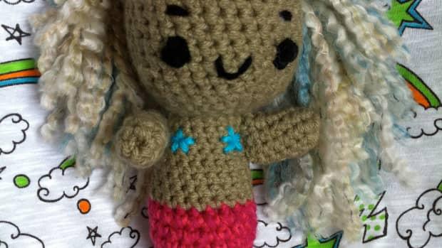 crocheted mermaid