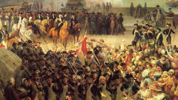 Another painting of the era, shows the class between the court and the military that had swung to the side of the people and bourgeoisie.