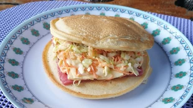 fluffy-ham-and-cheese-pancake-sandwich