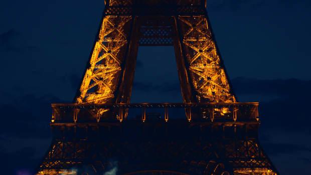 Eiffel Tower in Paris at night