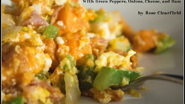 savory-sweet-potato-egg-scramble-veggies-green-peppers-onions-cheese-meat-ham