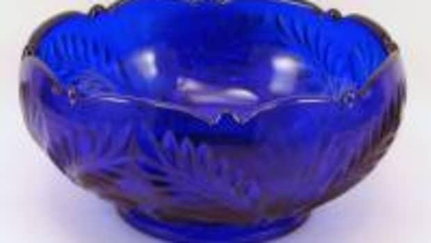 American Handmade Cobalt Blue Glass Bowl