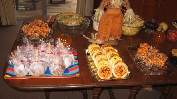 Halloween cookies and homemade Halloween treats.