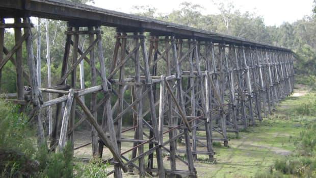 Stony Creek Trestle Bridge  a short drive from Lakes Entrance