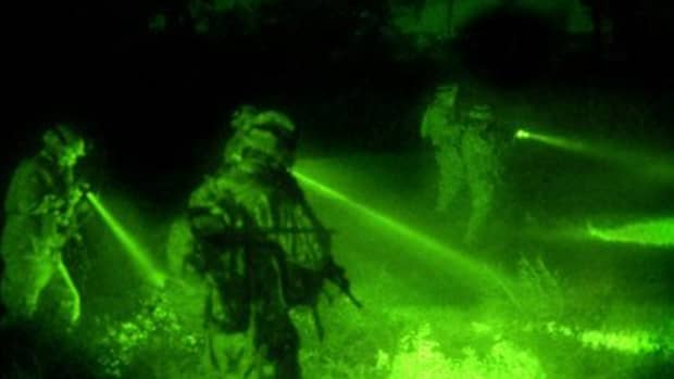 Night vision amplifies existing light
