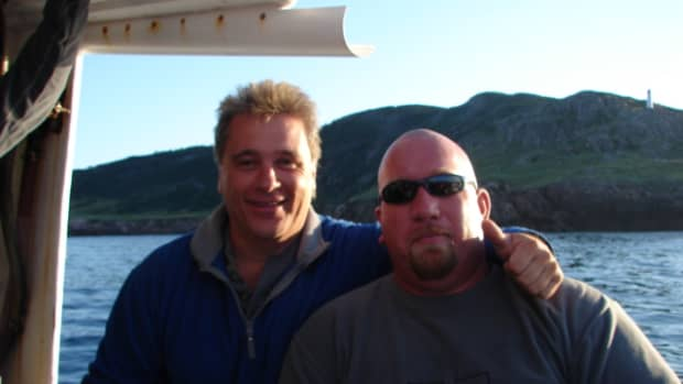 Me and my buddy Colin Caine off St. Paul's Island