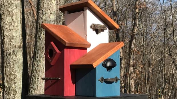 yard-art-birdhouse-how-to-build-a-multi-family-condo-birdhouse