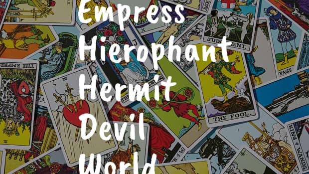 empress-hierophant-hemit-devil-and-world-earth-elemental-tarot-cards-in-the-major-arcana