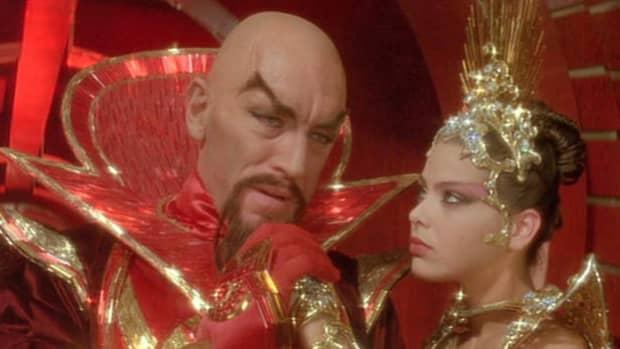 Max Von Sydow and Ornelli Muti in the 1980 Movie Flash Gordon