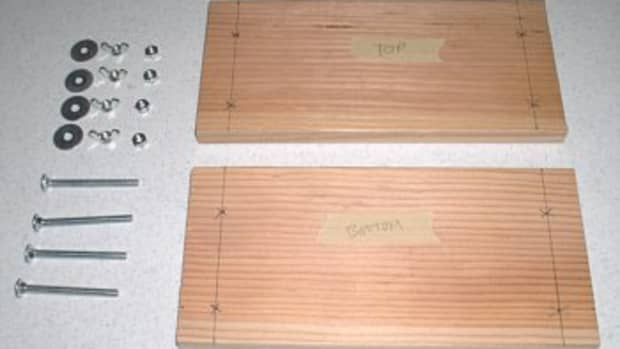 """You will need 2 - 12""""x 6"""" poplar or pine boards 3/4"""" thick. Hardware displayed."""