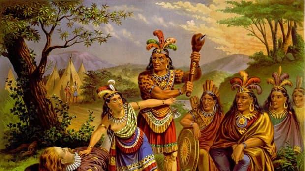 Pocahontas Saves John Smith (publc domain - Library of Congress).