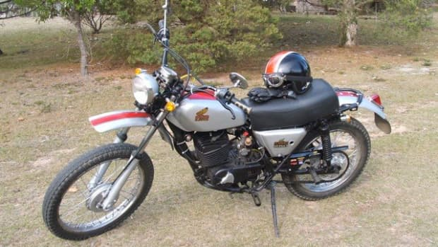 MT 250 Honda Elsinore after restoration