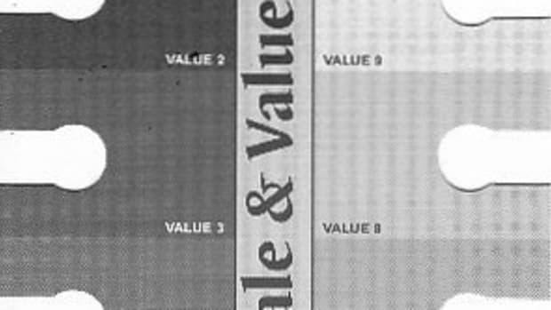 Grayscale Value Finder, a neat little widget that I bought at ASW. It helps to create homemade ones, but by the time you can create one perfectly you probably aren't using it as much anyway.