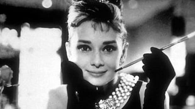 """Audrey Hepburn in her most iconic role, Holly Golightly in """"Breakfast at Tiffany's"""""""