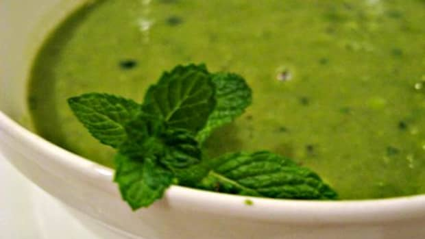 Mint and pea soup / Photo by E. A. Wright