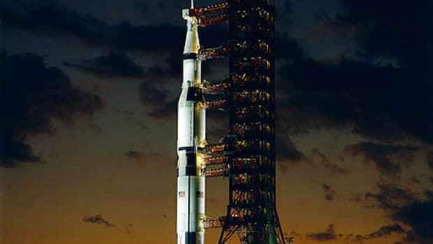 Apollo 4 Saturn V night launch.