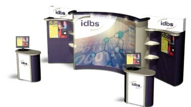 Pop Up Display Stand from Nomadic.  These Pop Up Stands are practical and portable.