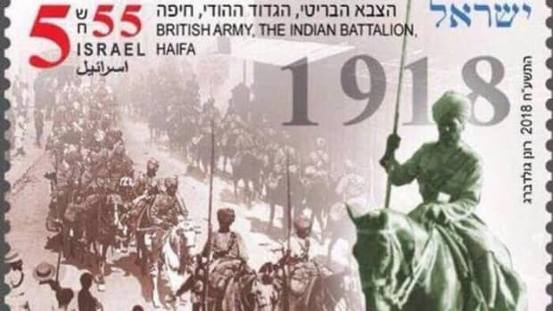 israel-issues-commemorative-stamp-to-honor-indian-soldiers-who-died-during-wwi