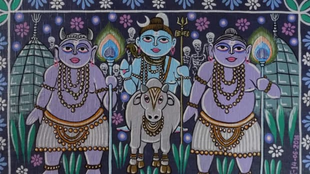 lively-depiction-of-the-holy-city-of-lord-shiva-on-the-canvas-of-the-baidyanath-paintings