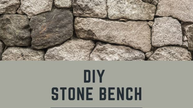 diy-making-a-stone-and-wood-bench-quickly-and-easily