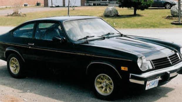 A restored Cosworth vega