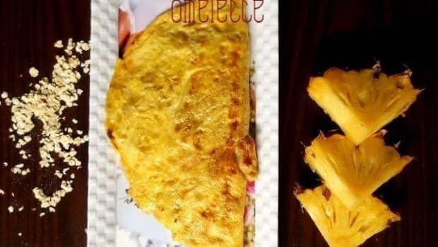 oats-pineapple-stuffed-omelette