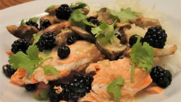 salmon-chanterelles-and-wild-berries