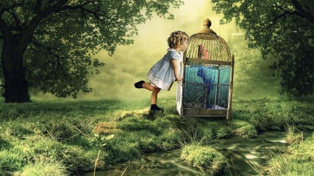 fantasy child in earth day scene