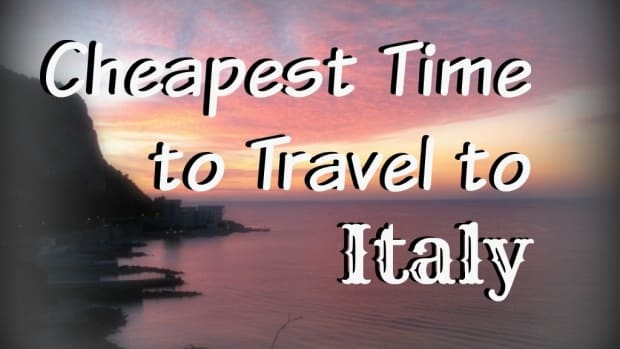 Cheapest time to travel to Italy.