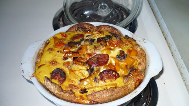 grilled-veggie-and-smoked-cheddar-sausage-strata