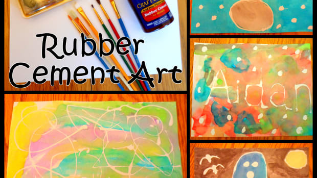 rubber-cement-art-ideas-for-kids