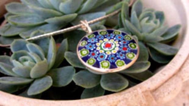 millefiori-pendant-necklaces