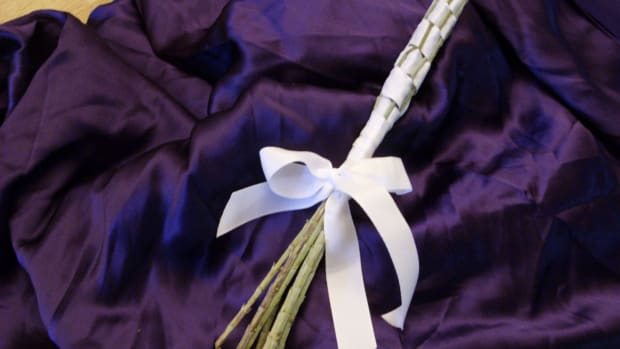 Lavender Wand Purple Cloth