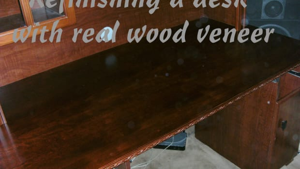refinishing-a-desktop-using-real-wood-veneer