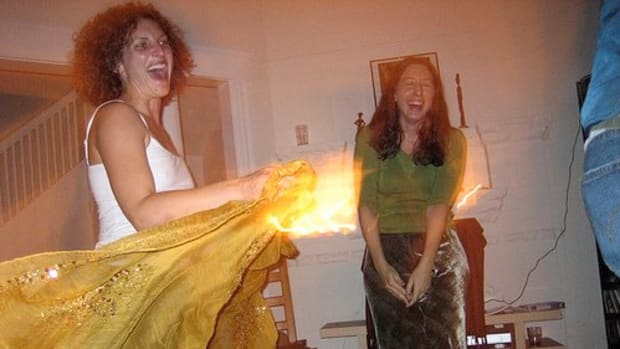 Learning belly dance at home is more fun with a friend!