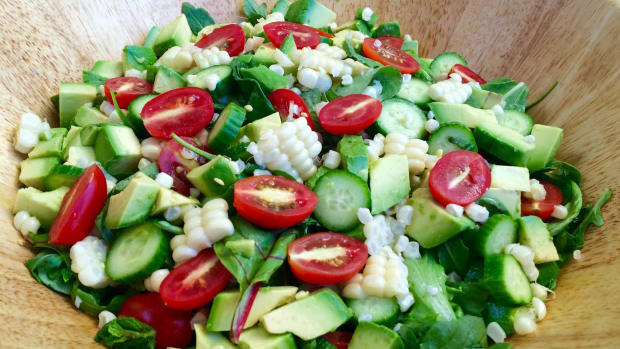 mint-lime-summer-salad-with-corn-and-avocado