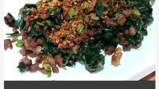 how-to-make-sausage-and-water-spinach-in-chili-garlic-oil