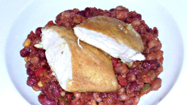 spicy-fried-chicken-warm-bean-salad