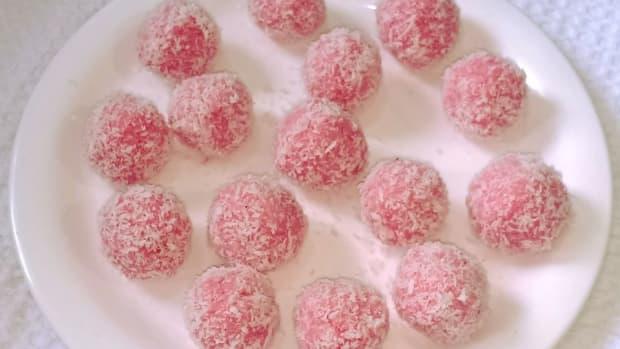 rose-coconut-ladoo-recipe-rose-flavored-coconut-balls
