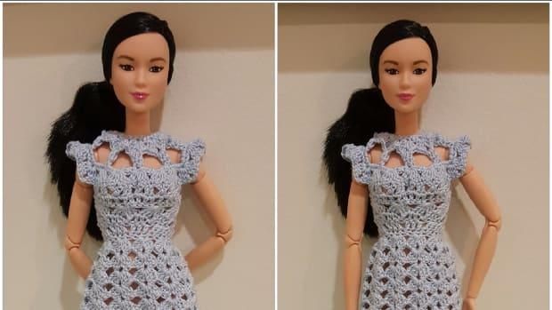 barbie-cut-out-shell-stitch-dress-free-crochet-pattern