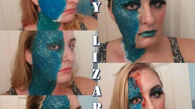 makeup-diy-special-effects-lizard-mystique-prosthetic