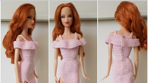 barbie-flounce-open-shoulder-high-slit-dress-free-crochet-pattern
