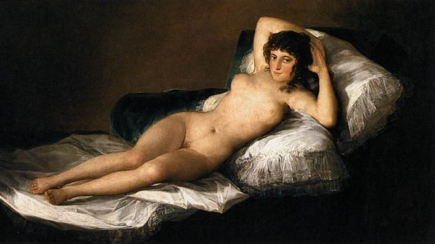 "Goya's ""The Nude Maja"" has been considered as probably the first European painting to show woman's pubic hair"