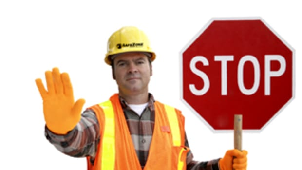 Advertisement for a work safe environment and work-safe gear. photo from theshsgroup.com