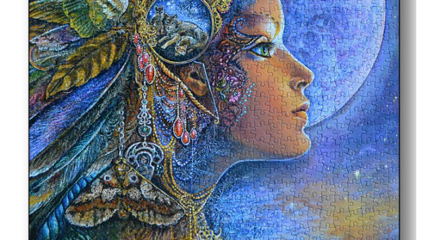 Diana Jigsaw Puzzle artwork by Josephine Wall
