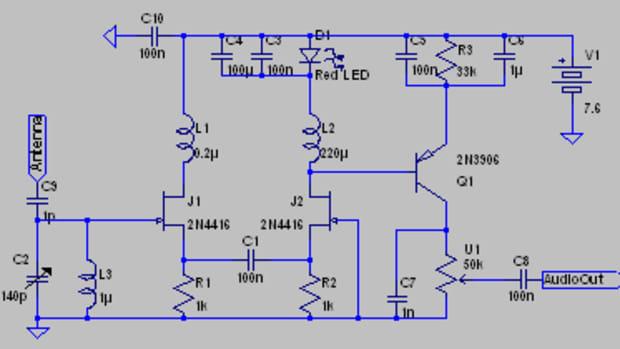 jfet-regenerative-radio-receiver